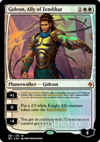 Gideon, Ally of Zendikar *Foil* Planeswalker Ally Deck