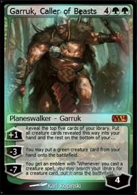 Magic 2014 MTG Caller of Beasts Garruk FOIL