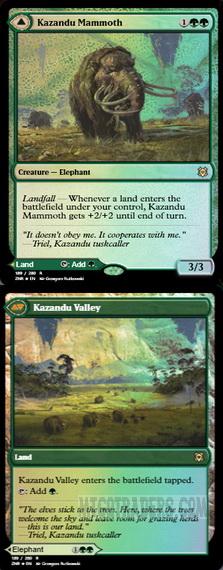 x1 Kazandu Mammoth //// Kazandu Valley Foil MTG Zendikar Rising R M//NM English
