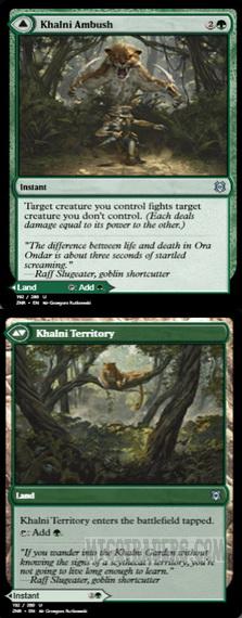 x4 Khalni Ambush //// Khalni Territory 192//280 uncommon zendikar rising